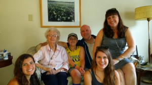 My family with Grandma Helen Gibson, the 98-year old matriarch of the Gibson family