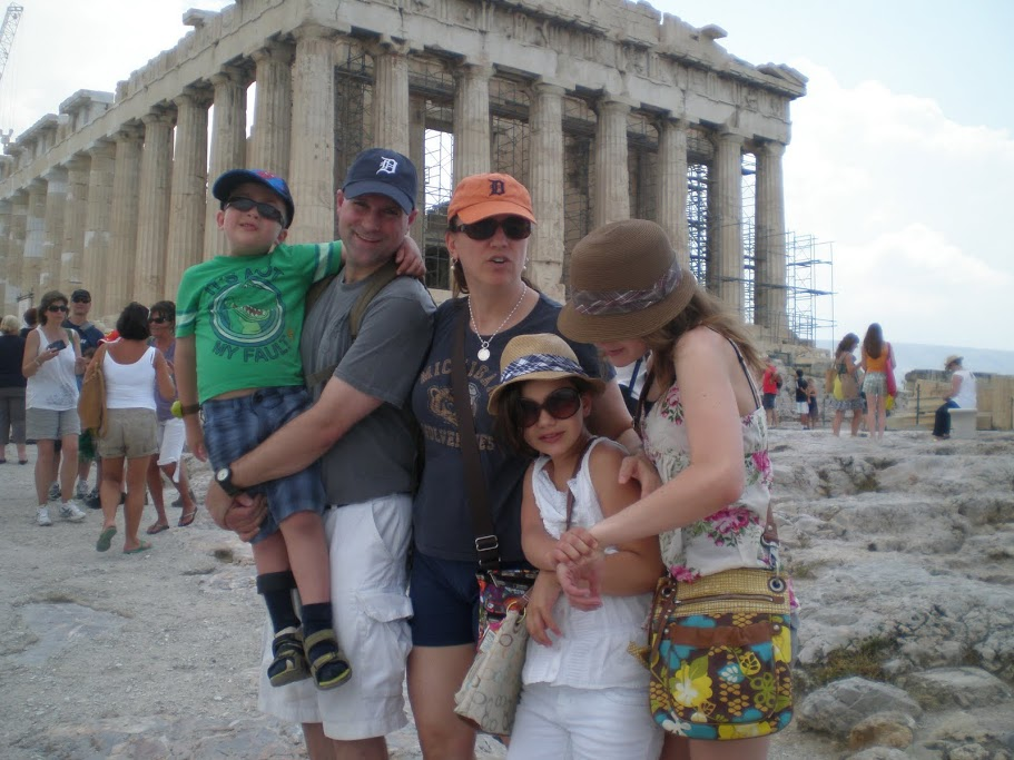 The Fam at the Acropolis circa 2010. One of my favorite family pics ever.
